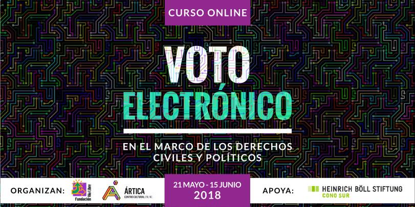 Cabezal del curso sobre voto electrónico